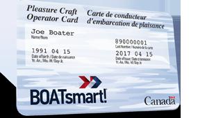 BOATsmart pleasure craft operator card