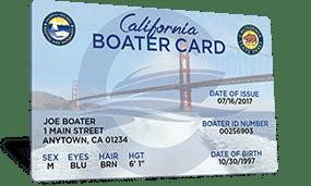 California Boater Card.