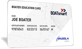 Generic Boating Card with the name Joe Boater