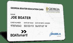 Georgia Boater Education Card