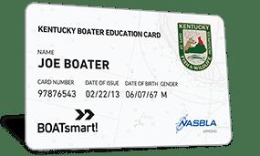 Kentucky Boater Education Card