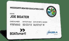 Mississippi Boater Education Card