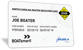 North Carolina Boater Education Card