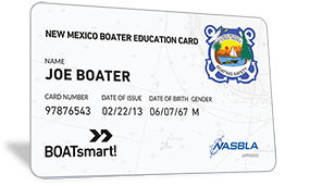 New Mexico Boater Education Card