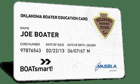 Oklahoma Boater Education Card