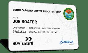 South Carolina Boater Education Card