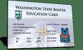 Washington State Boater Education Card