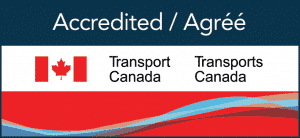 Transport Canada Accredited badge.