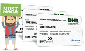 Lost Indiana Boater Education Card 3 Pack Bundle